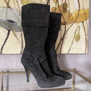 Circa Joan & David Dark Grey Suede Boots